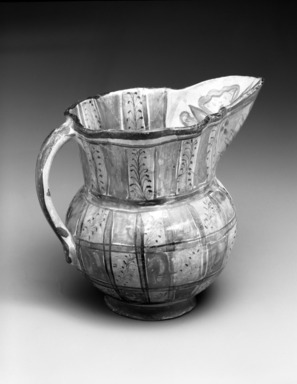 Tonala. Pitcher, 19th century. Glazed, ceramic, pigment, 6 3/4 x 5 x 8in. (17.1 x 12.7 x 20.3cm). Brooklyn Museum, Frank Sherman Benson Fund and the Henry L. Batterman Fund, 37.2965PA. Creative Commons-BY