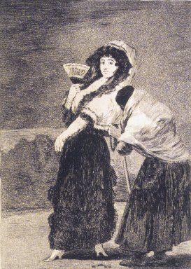 Francisco de Goya y Lucientes (Spanish, 1746-1828). For Heaven's Sake: And It Was Her Mother (Dios la perdone: y era su madre), 1797-1798. Etching, aquatint, and drypoint on laid paper, Sheet: 11 13/16 x 8 7/8 in. (30 x 22.5 cm). Brooklyn Museum, A. Augustus Healy Fund, Frank L. Babbott Fund, and Carll H. de Silver Fund, 37.33.16