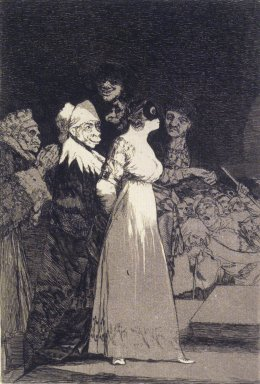 Francisco de Goya y Lucientes (Spanish, 1746-1828). They Say Yes and Give Their Hand to the First Comer (El si pronuncian y la mano alargan al primero que llega), 1797-1798. Etching and aquatint on laid paper, Sheet: 11 7/8 x 7 7/8 in. (30.2 x 20 cm). Brooklyn Museum, A. Augustus Healy Fund, Frank L. Babbott Fund, and Carll H. de Silver Fund, 37.33.2