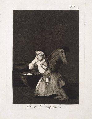 Francisco de Goya y Lucientes (Spanish, 1746-1828). Nanny's Boy (El de la rollona), 1797-1798. Etching and aquatint on laid paper, Sheet: 11 13/16 x 7 15/16 in. (30 x 20.2 cm). Brooklyn Museum, A. Augustus Healy Fund, Frank L. Babbott Fund, and Carll H. de Silver Fund, 37.33.4