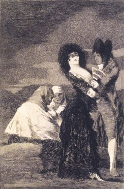 Francisco de Goya y Lucientes (Spanish, 1746-1828). Two of a Kind (Tal para qual), 1797-1798. Etching, aquatint, and drypoint on laid paper, Sheet: 11 7/8 x 8 in. (30.2 x 20.3 cm). Brooklyn Museum, A. Augustus Healy Fund, Frank L. Babbott Fund, and Carll H. de Silver Fund, 37.33.5
