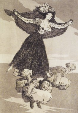 Francisco de Goya y Lucientes (Spanish, 1746-1828). They Have Flown (Volaverunt), 1797-1798. Etching, aquatint, and drypoint on laid paper, Sheet: 11 7/8 x 8 in. (30.2 x 20.3 cm). Brooklyn Museum, A. Augustus Healy Fund, Frank L. Babbott Fund, and Carll H. de Silver Fund, 37.33.61