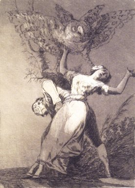Francisco de Goya y Lucientes (Spanish, 1746-1828). Can't Anyone Untie Us? (¿No hay quien no desate?), 1797-1798. Etching and aquatint on laid paper, Sheet: 11 7/8 x 8 in. (30.2 x 20.3 cm). Brooklyn Museum, A. Augustus Healy Fund, Frank L. Babbott Fund, and Carll H. de Silver Fund, 37.33.75