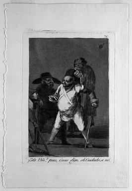Francisco de Goya y Lucientes (Spanish, 1746-1828). Esta Vmad (1) Pues, Como Digo...Eh...Cuidado.  Si no., 1797-1798. Etching and aquatint on laid paper, Sheet: 11 7/8 x 7 15/16 in. (30.2 x 20.2 cm). Brooklyn Museum, A. Augustus Healy Fund, Frank L. Babbott Fund, and Carll H. de Silver Fund, 37.33.76