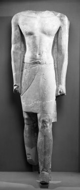 Statue of Ity-sen, ca. 2500-2350 B.C.E. Limestone, 61 x 20 1/2 x 15 3/16 in. (155 x 52 x 38.5 cm). Brooklyn Museum, Gift of Evangeline Wilbour Blashfield, Theodora Wilbour, and Victor Wilbour honoring the wishes of their mother, Charlotte Beebe Wilbour, as a memorial to their father Charles Edwin Wilbour, 37.365. Creative Commons-BY