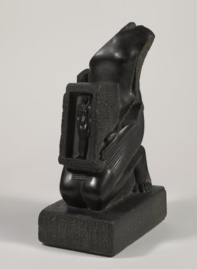 Temple Statue of Pawerem, Priest of Bastet, 570-510 B.C.E. Diorite, Height: 18 7/8 in. (47.9 cm). Brooklyn Museum, Charles Edwin Wilbour Fund, 37.36E. Creative Commons-BY