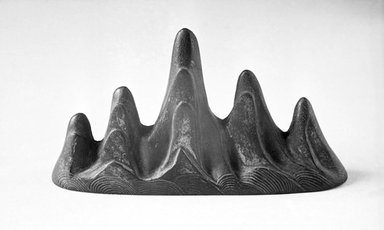 Brush Rest in the Form of a Mountain, possibly 18th century. Bronze, traces of gilding, 3 7/8 x 1 11/16 x 7 1/16 in. (9.8 x 4.3 x 17.9 cm). Brooklyn Museum, Frank L. Babbott Fund, 37.371.13. Creative Commons-BY