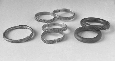 Bracelet. Silver, 5/16 x 3 15/16 in. (0.8 x 10 cm). Brooklyn Museum, Frank L. Babbott Fund, 37.371.8. Creative Commons-BY