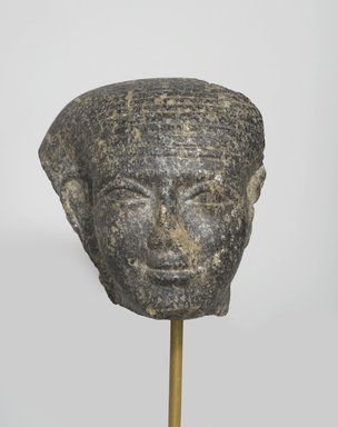 Fragmentary Head, ca. 1759-1675 B.C.E. Granite, 4 7/16 x 3 3/8 x 4 13/16 in. (11.3 x 8.6 x 12.2 cm). Brooklyn Museum, Gift of Mrs. Frederic B. Pratt, 37.394. Creative Commons-BY