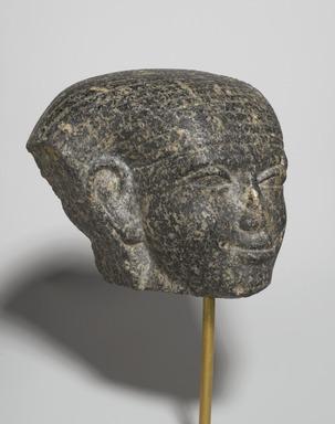 Fragmentary Head, ca. 1759-1675 B.C.E. Granite, 4 7/16 x 3 3/8 x 4 13/16 in. (11.3 x 8.6 x 12.2 cm). Brooklyn Museum, Gift of Mrs. Frederic B. Pratt, 37.394. Creative Commons-BY