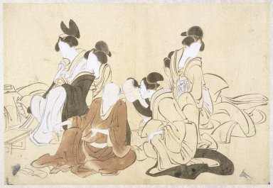 Kawanabe Kyosai (Japanese, 1831-1889). Sketch, 19th century. Ink, watercolors on paper, Image: 10 5/8 x 15 3/8 in. (27 x 39 cm). Brooklyn Museum, Designated Purchase Fund, 37.396