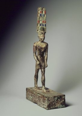 Statuette of Amun. Bronze, 13 5/16 x 2 7/8 x 6 1/4 in. (33.8 x 7.3 x 15.8 cm). Brooklyn Museum, Charles Edwin Wilbour Fund, 37.4. Creative Commons-BY