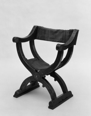 Chair, 16th century. Walnut wood, metal, 36 7/16 x 29 1/2 x 19 11/16 in. (92.5 x 75 x 50 cm). Brooklyn Museum, Gift of Mrs. Frederic B. Pratt, 37.416. Creative Commons-BY