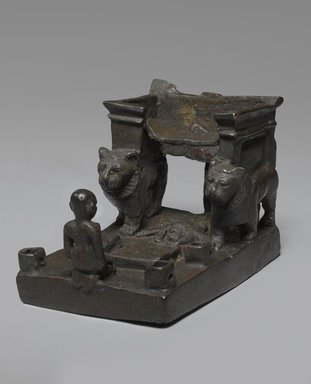 Throne with Lions and Worshipper