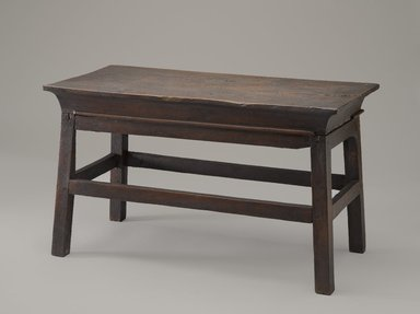 Table, ca. 1539-1292 B.C.E. Wood, 12 x 10 x 20 5/8 in. (30.5 x 25.4 x 52.4 cm). Brooklyn Museum, Charles Edwin Wilbour Fund, 37.41E. Creative Commons-BY