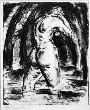 Paul Kleinschmidt (German, 1883-1949). In Water (Im Wasser), 1910. Lithograph on wove paper, Image: 9 3/8 x 7 7/8 in. (23.8 x 20 cm). Brooklyn Museum, Gift of J. B. Neumann, 37.422