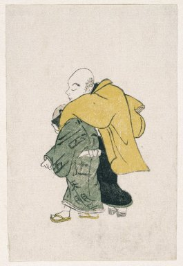 E-Goyomi (Man and Boy Walking), 1784-1787. Color print, sheet: 5 1/4 x 3 9/16 in. (13.4 x 9 cm). Brooklyn Museum, By exchange, 37.446