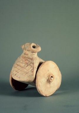 Harappa. Toy Ram on Wheels, 3000-2500 B.C. Reddish Pottery, 3 1/4 x 4 1/8 in. (8.2 x 10.5 cm). Brooklyn Museum, A. Augustus Healy Fund, 37.50. Creative Commons-BY