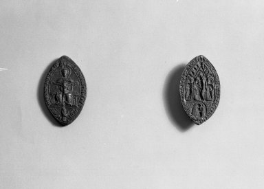Ellipse Seal - The Trinity. Bronze Brooklyn Museum, Gift of Marvin Chauncey Ross, 37.521. Creative Commons-BY
