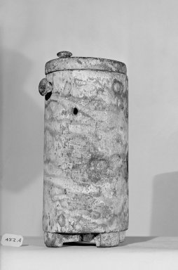 Circular Toilet Box with Cover. Wood Brooklyn Museum, Charles Edwin Wilbour Fund, 37.604Ea-b. Creative Commons-BY