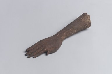 Hand and Forearm Sculpture. Wood, painted, 5 3/8 in. (13.7 cm). Brooklyn Museum, Gift of the Egypt Exploration Society, 37.615.1. Creative Commons-BY