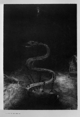 Odilon Redon (French, 1840-1916). Apocalypse de Saint-Jean, 1899. Lithograph on China paper laid down, 11 3/4 x 8 1/4 in. (29.8 x 21 cm). Brooklyn Museum, By exchange, 37.7.10