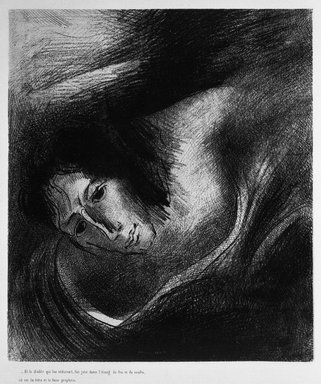 Odilon Redon (French, 1840-1916). Apocalypse de Saint-Jean, 1899. Lithograph on China paper laid down, 10 13/16 x 9 3/8 in. (27.4 x 23.8 cm). Brooklyn Museum, By exchange, 37.7.11