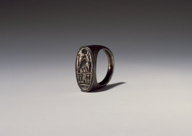 Ring of Ramesses IV, ca. 1152-1145 B.C.E. Silver, Width: 7/8in. (2.3cm). Brooklyn Museum, Charles Edwin Wilbour Fund, 37.727E. Creative Commons-BY