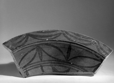 Harappa. Fragment of Broad Shallow Vessel, ca. 2500 B.C.E. Red pottery with red and black slip-painted decoration, 11.2 x 29 cm (11.2 x 29 cm). Brooklyn Museum, A. Augustus Healy Fund, 37.75. Creative Commons-BY