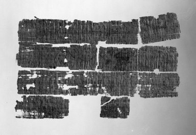 Group of Seven Papyrus Fragments Fitted Together Forming a Portion of a Letter