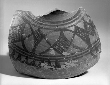 Harappa. Fragment of Medium-sized Vessel, ca. 2500 B.C.E. Red pottery with slip-painted decoration, 4 5/16 x 5 7/8 in. (11 x 15 cm). Brooklyn Museum, A. Augustus Healy Fund, 37.90. Creative Commons-BY