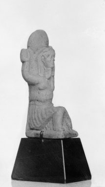 Small Figure of Shu, ca. 1070 B.C.E.-653 B.C.E. Faience, 1 3/4 x 7/8 in. (4.5 x 2.2 cm). Brooklyn Museum, Charles Edwin Wilbour Fund, 37.954E. Creative Commons-BY