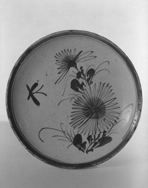 Dish, early 19th century. Glazed earthenware with iron decoration: Seto ware, 1 1/4 x 8 9/16 in. (3.2 x 21.7 cm). Brooklyn Museum, By exchange, 38.147. Creative Commons-BY