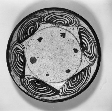 Horse-Eye Dish, early 19th century. Glazed stoneware with iron decoration; Seto ware, 2 1/16 x 10 3/16 in. (5.2 x 25.9 cm). Brooklyn Museum, By exchange, 38.149. Creative Commons-BY