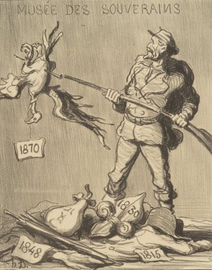 Honoré Daumier (French, 1808-1879). Whose Turn Is It? (A qui le tour?), 1870. Lithograph on wove paper, Image: 9 x 7 1/16 in. (22.9 x 17.9 cm). Brooklyn Museum, By exchange, 38.176