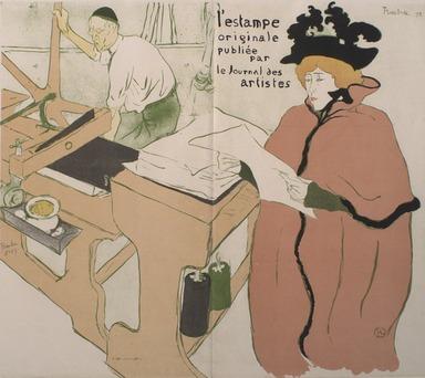 "Henri de Toulouse-Lautrec (French, 1864-1901). Couverture ""L'Estampe Originale,"" 1893. Color lithograph on wove paper, 22 1/4 x 25 3/16 in. (56.5 x 64 cm). Brooklyn Museum, Charles Stewart Smith Memorial Fund, 38.342"