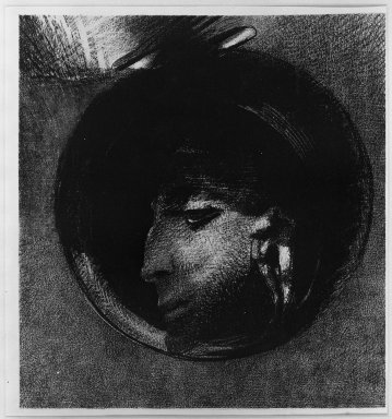 Odilon Redon (French, 1840-1916). Auricular Cell (Cellule auriculaire), 1894. Lithograph on China paper laid down, 10 9/16 x 9 13/16 in. (26.8 x 25 cm). Brooklyn Museum, Charles Stewart Smith Memorial Fund, 38.351