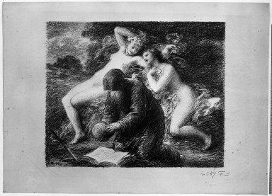 Henri Fantin-Latour (French, 1836-1904). La Tentation de Saint Antoine, 1893. Lithograph on laid paper, Image: 12 3/4 x 15 3/4 in. (32.4 x 40 cm). Brooklyn Museum, Charles Stewart Smith Memorial Fund, 38.356