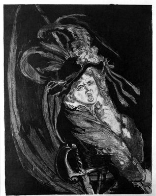 Henri-Jules-Charles de Groux (Belgian, 1867-1930). Porte-etendard. Lithograph Brooklyn Museum, Charles Stewart Smith Memorial Fund, 38.367