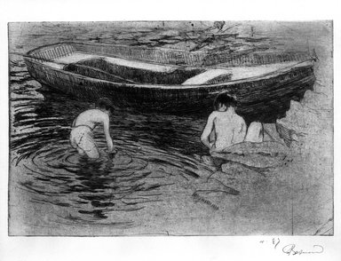 Albert Besnard (French, 1849-1934). La Baignade a Talloires, 1888. Etching and aquatint on wove paper, 6 5/16 x 9 7/16 in. (16 x 24 cm). Brooklyn Museum, Charles Stewart Smith Memorial Fund, 38.404