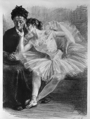 Paul Renouard (French, 1845-1924). Danseuse et sa  mère, 1894. Lithograph on wove paper, 18 3/8 x 13 5/8 in. (46.7 x 34.6 cm). Brooklyn Museum, Charles Stewart Smith Memorial Fund, 38.410