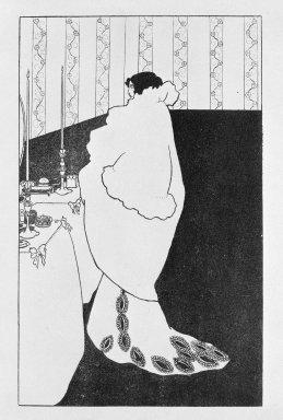 Aubrey Beardsley (British, 1872-1898). La Dame Aux Camelias, n.d. Zincotype on China paper, Image: 7 x 4 3/8 in. (17.8 x 11.1 cm). Brooklyn Museum, Henry L. Batterman Fund, 38.42