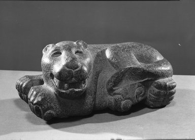 Mexica (Aztec). Reclining Jaguar, 1400-1521. Volcanic stone, 5 x 11 x 5 3/4 in. (12.7 x 27.9 x 14.6 cm). Brooklyn Museum, Carll H. de Silver Fund, 38.45. Creative Commons-BY