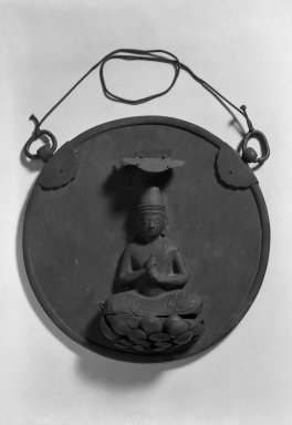 Buddhist Votive Plaque (Kakebotoke), early 13th century. Bronze, 5 3/8 x 13 9/16 x 9 1/16 in. (13.7 x 34.5 x 23 cm). Brooklyn Museum, A. Augustus Healy Fund, 38.640. Creative Commons-BY