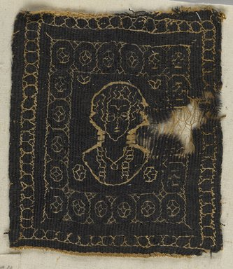 Coptic. Textile, 5th–6th century C.E. Flax, wool, 4 1/2 x 4 in. (11.4 x 10.2 cm). Brooklyn Museum, Charles Edwin Wilbour Fund, 38.674. Creative Commons-BY