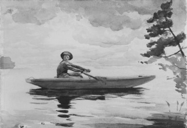 Winslow Homer (American, 1836-1910). The Boatman, 1891. Watercolor with graphite pencil underdrawing on thick, textured wove paper, 13 15/16 x 20 in. (35.4 x 50.8 cm). Brooklyn Museum, Bequest of Mrs. Charles S. Homer, 38.68