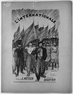 Théophile Alexandre Steinlen (French, 1859-1923). L'Internationale, 1895. Lithograph on wove paper, 11 x 7 3/16 in. (28 x 18.3 cm). Brooklyn Museum, Gift of Paul Prouté, 38.735