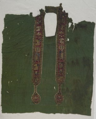 Brooklyn Museum: Green Tunic - Front with Decorated Bands