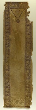 Coptic. Tunic Front with Marine Motifs, 6th century C.E. Wool, 13 x 44 1/2 in. (33 x 113 cm). Brooklyn Museum, Charles Edwin Wilbour Fund, 38.753. Creative Commons-BY
