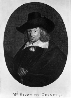Hendrik Bary (Dutch, 1640-1707). Matthew van Gherwen, Jurist, 17th century. Engraving on laid paper, Plate: 11 7/16 x 7 1/2 in. (29.1 x 19.1 cm). Brooklyn Museum, Museum Collection Fund, 38.772